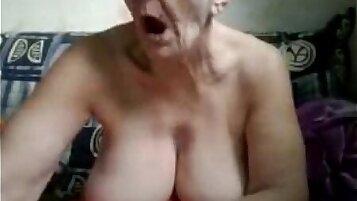 Granny Cameltoe a homemade webcam